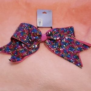 Sequined cheer bow